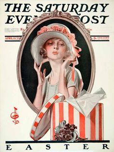 """""""Easter"""" by J. C. Leyendecker, The Saturday Evening Post, 15 April 1922"""