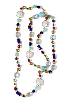 Ippolita's 18k gold necklace with semiprecious stones.