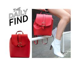 """Daily Find: Topshop Backpack"" by polyvore-editorial ❤ liked on Polyvore featuring Topshop and DailyFind"