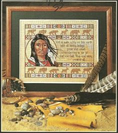 Pacific Northwest American Indian Embroidery needlepoint cross stitch Pattern
