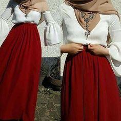 Arab Fashion, Islamic Fashion, Muslim Fashion, Modest Fashion, Skirt Fashion, Fashion Outfits, Hijab Abaya, Hijab Dress, Hijab Outfit