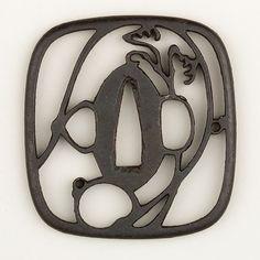 Sword Guard (Tsuba) Date: 18th century Culture: Japanese Medium: Iron, copper Dimensions: H. 2 7/8 in. (7.3 cm); W. 2 3/4 in. (7 cm); thickness in. (cm); Wt. oz. (g)