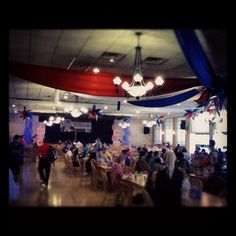 The cafeteria is all decorated and ready to go ! 4 days until the #lynndebate