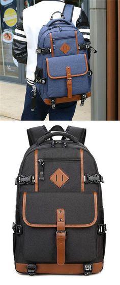 9273ba7f40 Retro Oxford Cloth Waterproof Backpack Computer Bag Large Outdoor Travel  Men s Backpack  backpack  Bag  school  fashionbackpacksmens