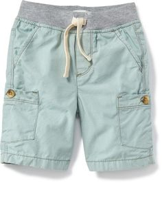 Knit-Waist Pull-On Cargo Shorts for Baby Product Image