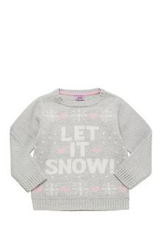 Clothing at Tesco   F&F Let It Snow Jumper > knitwear > Kids' Christmas jumpers > Christmas