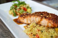 #HEALTHYRECIPE - Sweet and Spicy Salmon with Avocado Relish