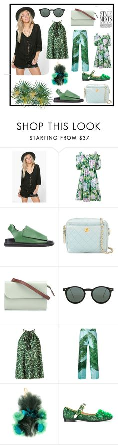 """statements"" by kristen-stewart-2989 ❤ liked on Polyvore featuring Boohoo, Dolce&Gabbana, Marni, Chanel, Ally Capellino, Spitfire, Andrea Marques, F.R.S For Restless Sleepers, Burberry and Toga"