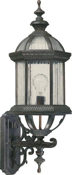 Quorum International 7812-45 Signature 1 Light 27 inch Baltic Granite Outdoor Wall Lantern