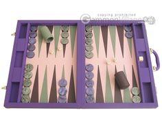 Purple backgammon set.