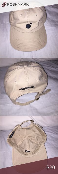 """The Hundreds Hat Tan, a bomb logo on the front, adjustable strap, """"The Hundreds"""" on the back. The Hundreds Accessories Hats"""