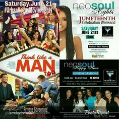 Just Confirmed || Just Confirmed **OPEN BAR** at #NeoSoulNights This Saturday 10pm w/ Ticket Stub from the #UrbanVegasMovieNights Private Screening!! Get your tickets Today for @ThinkLikeAMan Too Private Screening This Saturday 7pm at AMC Town Square And Have some fun afterwards, immediately following at #BlueMartini which is Next Door!! Remember, You can Only get tix from us, Not the Box Office, Not Fandango!! For Tix Call MooreGlobalGroup (702) 787-1272, BlackVegas.com (702) 518-3531 or…