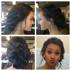 Prom hair loose updo. 2013.