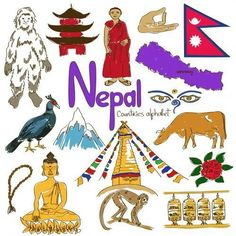 'N' is for Nepal with the alphabetical country worksheets from… Geography For Kids, Teaching Geography, World Geography, Nepal Culture, World Cultures, Countries Of The World, Thinking Day, Nepal Art, Nepal Food