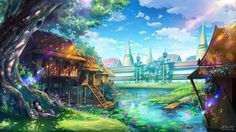 Background art for Wonderworks <mobile game> FB Page>www.facebook.com/zhoweearts/?f…
