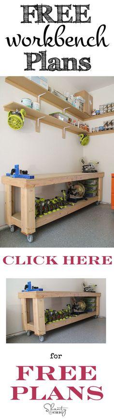 Diy workbench plans we put a bracing on the front under for Diy garage plans