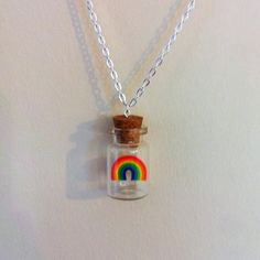 Rainbow in a Bottle Necklace