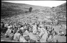 Asni   Sur la route d'Asni, grand marché au pied du Djebel Toubkal   1924