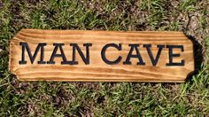 Man Cave Wood Sign Engraved Wood Sign by AnchoredSixCreations