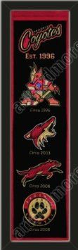 Heritage Banner Of Phoenix Coyotes-Framed Awesome & Beautiful-Must For A Championship Team Fan! Most NHL Team Banners Available