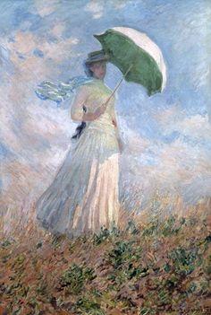 Monet, Claude : Vrouw met parasol (Susanne...