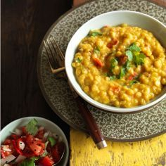 Anjum Anand's easy tarka dhal recipe - A classic vegetarian recipe that is so easy to make. Tarka simply refers to the few ingredients fried up and stirred in at the end; most Indian lentil dishes are made this way.