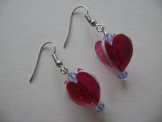 Recycled Paper Bead Dangling Earrings for #Valentine's by NightLightCrafts on Etsy, $10.00  #handmade #pinwheel #papercrafts