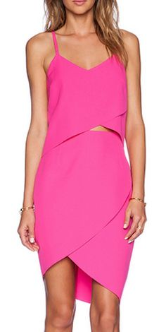 Bright pink tulip dress http://rstyle.me/n/umvqanyg6