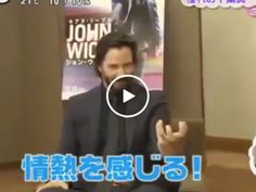 Keanu Reeves fangirls when getting surprised by Japanese idol Sonny Chiba (Video)