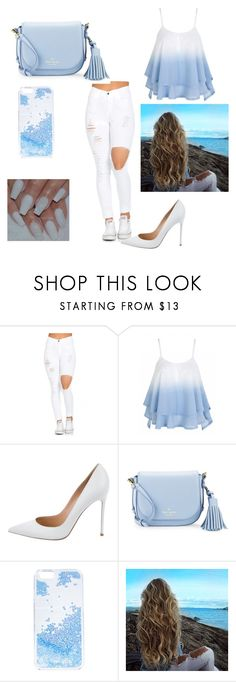 """""""Untitled #1"""" by munira-salihovic ❤ liked on Polyvore featuring Gianvito Rossi, Kate Spade and Skinnydip"""