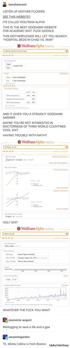 Wolfram alpha is honestly a godsend. It's a good of how I was able to understand how calculus worked Wolfram alpha is honestly a godsend. It's a good of how I was able to understand how calculus worked College Hacks, College Life, The More You Know, Good To Know, Writing Tips, Writing Prompts, Life Hacks For School, School Tips, Tips & Tricks