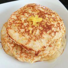 Vanilla Lemon Protein Pancakes