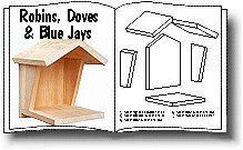 Print nesting platform plans for mourning doves, robins, phoebes and blue jays