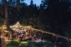 Outdoor wedding venue. Forest Cabin Wedding in the mountains. Pine Rose Cabins, Lake Arrowhead  ©Isaiah & Taylor Photography - Los Angeles Destination Wedding Photographer