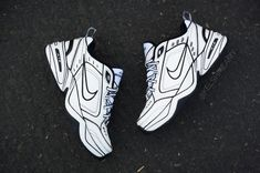 51170287a Nike Air Monarch Reality to Idea Custom by Shme - Nike Monarch Customs |  Sole Collector