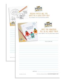 Story starter printables are great for handwriting practice | Pirates and monster story starters at BIC Fight for Your Write