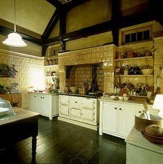 Tuscan Kitchen  dark floors