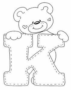 4 Modelos de Alfabeto Completo para Colorir e Imprimir - Online Cursos Gratuitos Alphabet Templates, Applique Templates, Applique Patterns, Colouring Pics, Coloring Books, Coloring Pages, Embroidery Alphabet, Felt Patterns, Alphabet And Numbers