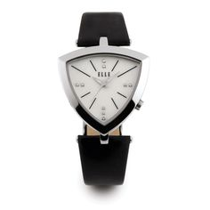 The Jewelers You Can Trust - Lady's Stainless steel Triangle Elle Watch