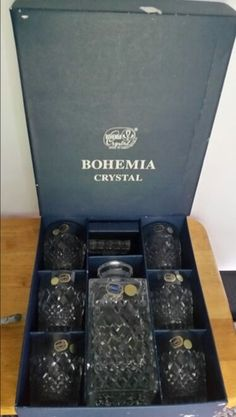 47acb047a2c Boxed vintage Czech Bohemian crystal decanter set 6 glasses for Sale in  Jacksonville