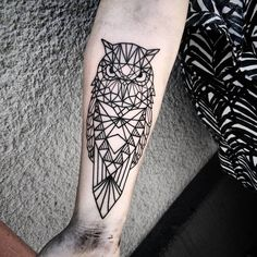 Geometric Owl Tattoo by Lenn Awe