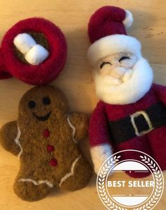 Excited to share the latest addition to my shop: Felt Santa Felt Gingerbread Man Felt Hot Cocoa Christmas Newborn Photo Prop Felt Stuffy Stuffie Christmas Prop Wool Santa Ready to Ship Newborn Christmas Photos, Christmas Photo Props, Felt Christmas, Newborn Photo Props, Newborn Photos, Nuno Felting, Needle Felting, Waldorf Toys, Unique Gifts For Her