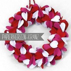 Papierherz-Kranz