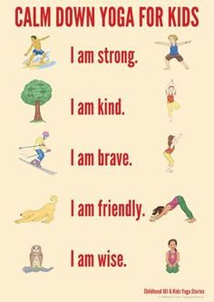 Calm Down Yoga Routine for Kids: Printable Yoga can really help kids decrease anxiety and increase self esteem, try this easy sequence with your kiddos- Managing Big Emotions Through Movement Ashtanga Vinyasa Yoga, Kundalini Yoga, Yoga Meditation, Meditation Quotes, Yoga Flow, Yoga For Kids, Exercise For Kids, Kids Workout, Stretches For Kids