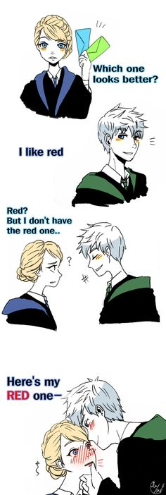 Rise of the Guardians' Jack Frost and Frozen's Elsa | J.K. Rowling's Harry Potter / Red by Lime-Hael on DeviantArt