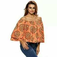 Good day everyone,  hope all is well.  Check out this off the shoulder trendy Africa printed long sleeve crop top.  Style this piece with a great pair of jeans or tight and high heels for a night out look.   Jahvysams21, www.Jahvysams21.com