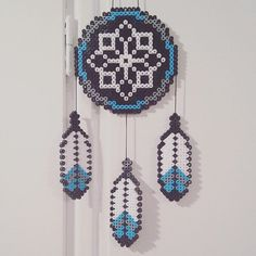 Dreamcatcher  perler beads by  michelleparlar