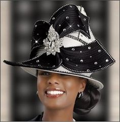 Stunning Ivory and Black Special Occasion Church Hat - SALE $129.00