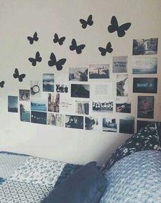 """Este tipo de decoraciones con fotos son lindas, es como una especie de """"recuerdo en la pared"""""""
