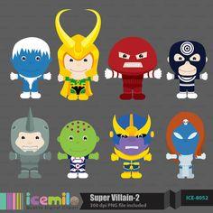 Super Villain 2 Digital Clipart by IcemiloClipart on Etsy, $4.50